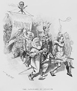 Socialists Prints - The Vanguard Of Anachy, Caricatures Print by Everett