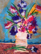 Boardroom Mixed Media Metal Prints - The Vase Metal Print by David Raderstorf
