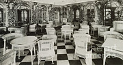 Titanic Posters - The Verandah Cafe Of The Titanic Poster by Photo Researchers