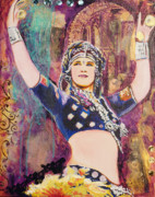 Bellydancer Framed Prints - The Versatile Dancer Framed Print by Stephanie Bolton