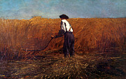 Farm Fields Paintings - The Veteran in a New Field by Winslow Homer