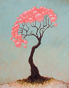 Tree Oil Paintings - The Vibes by Ethan Harris