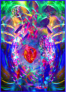 Pulsing Prints - The Vibrant Heart Print by Rayofra Ra