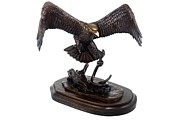 Eagle Sculpture Prints - The Victor Print by Donna Mohler