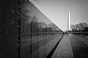 Washington Monument Framed Prints - The Vietnam Veterans Memorial Washington DC Framed Print by Ilker Goksen