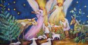 Nativity Paintings - The Vigil by Claire Sallenger Martin