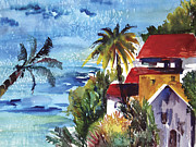 Villa Paintings - The Villa by Dotty  Reiman