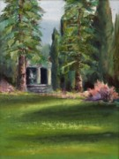 Villa Paintings - The Villa by Nancy Atherton Cheadle