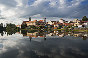 Moravia Photo Framed Prints - The Village From The Lake Framed Print by Maremagnum