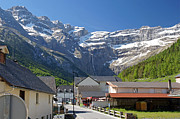 Midi Prints - The village of Gavarnie Print by Rod Jones