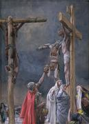 Calvary Paintings - The Vinegar Given to Jesus by Tissot