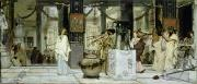 Torch Paintings - The Vintage Festival in Ancient Rome by Sir Lawrence Alma Tadema