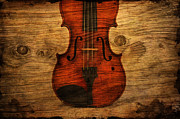 Violin Digital Art Metal Prints - The Violin Metal Print by Emily Stauring