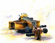 Watercolor Print Posters - The Violin Poster by John D Benson