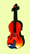 Musics Posters - The Violin . Light Version . Painterly Poster by Wingsdomain Art and Photography