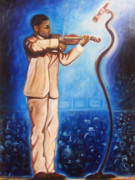 Emery Franklin Metal Prints - The Violinist Metal Print by Emery Franklin