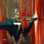 Violinist Digital Art - The Violinist by Vimuz