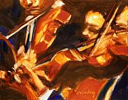 Violins Paintings - The Violinists by Bob Dornberg