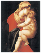 Religious Art Painting Posters - The Virgin and Child Poster by Jacopo Da Pontormo