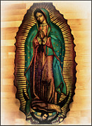 Our Lady Of Guadalupe Framed Prints - The Virgin of Guadalupe  Framed Print by Bill Cannon