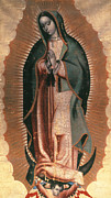 Black Madonna Paintings - The Virgin Of Guadalupe by Granger