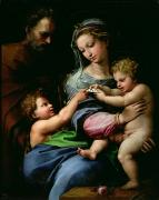 Saint Joseph Posters - The Virgin of the Rose Poster by Raphael