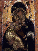 Russian Icon Photos - The Virgin Of Vladimir by Granger