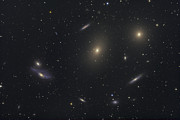 Elliptical Galaxy Posters - The Virgo Galaxy Cluster Known Poster by Roth Ritter
