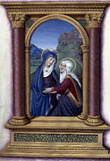 Fine Art  Of Women Paintings - The Visitation by Granger