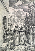 St Elizabeth Framed Prints - The Visitation, The Virgin And St Framed Print by Everett