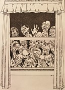 Undead Drawings Posters - The Visitors Poster by Jodi Harvey-Brown