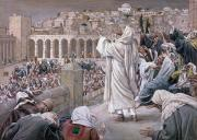 Jerusalem Painting Posters - The Voice from Heaven Poster by Tissot