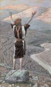 Gouache Paintings - The Voice in the Desert by Tissot