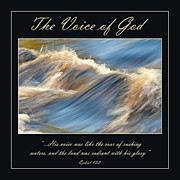 Bible Photo Posters - The Voice of God Poster by Carolyn Marshall