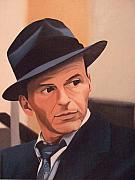 Frank Sinatra Painting Originals - The Voice by William Parsons