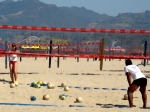 Santa Monica Digital Art Metal Prints - The Volleyball Lesson Metal Print by Ronnie Caplan