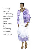 Humorous Greeting Cards Prints - The Voyage - Multicultural - spiritual Print by Karen Bailey