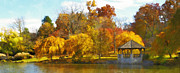 Virginia Tech Prints - The VT Duck Pond Print by Kathy Jennings