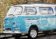 Vw Camper Van Posters - the VW Camper Van Poster by Tilly Williams
