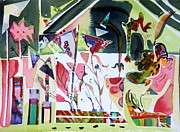 House Digital Art Originals - The Wacky Conservatory by Mindy Newman
