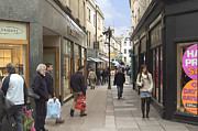 Street Photography Digital Art Prints - The Wait in Bath Print by Mike McGlothlen