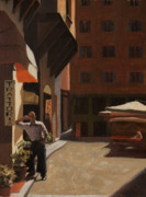 Store Fronts Prints - The Waiter Print by Katherine Seger