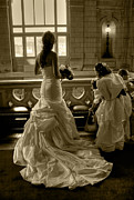 Bridesmaid Posters - The Waiting Bride Poster by Sophie De Roumanie