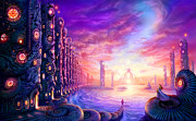 Fantasy Landscape Prints - The Waiting Print by Philip Straub