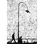 Picoftheday Posters - The Walk Of Life..#italy #bw Poster by A Rey