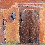 Old Door Pastels Framed Prints - The Walking Stick Framed Print by Julia Patterson