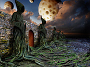 Photomontage Digital Art - The Wall by Mariusz Zawadzki