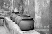 Bowls Framed Prints - The Wall of Pots Framed Print by Sandra Bronstein