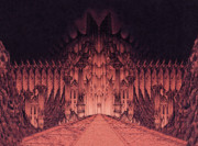 The Walls Of Barad Dur Print by Curtiss Shaffer