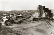 Barre Framed Prints - The Wanamie Colliery Lehigh and Wilkes Barre Coal Co Wanamie PA early 1900s Framed Print by Arthur Miller